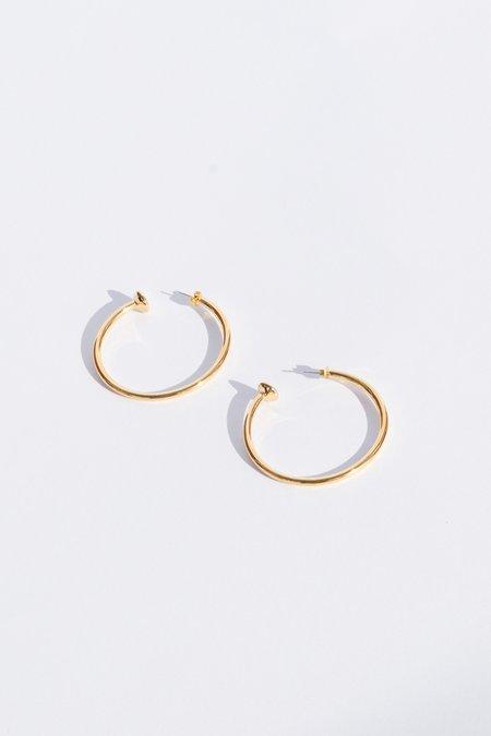 Vanessa Mooney Large Hoop Earrings - Gold