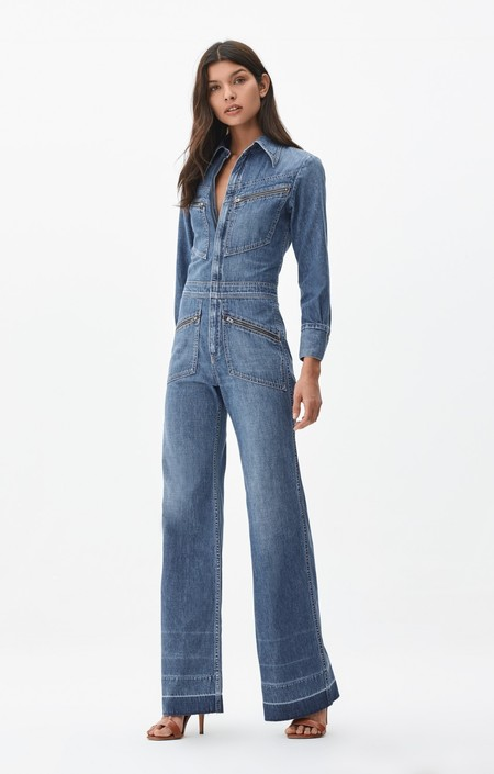 Citizens of Humanity Farrah 70's Jumpsuit in Sailing