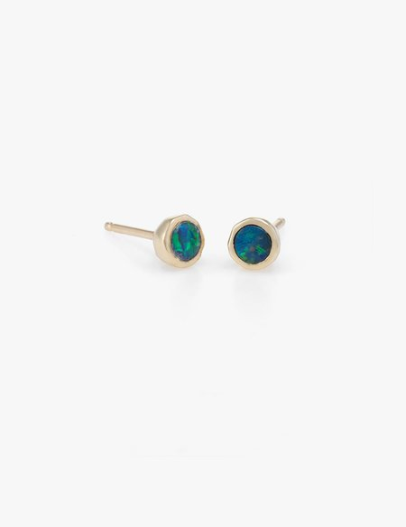 Kathryn Bentley Tiny Blue Opal Dot Studs