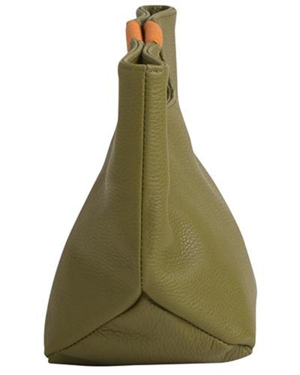 Oliveve Ella Wrap Handle Clutch in Avocado Pebble Cow Leather