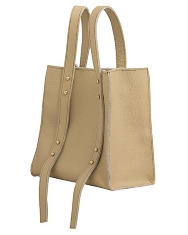 Oliveve Keira Convertible Strap Tote in Sand Pebbled Leather