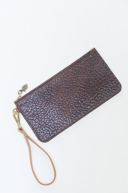 Garayalde Telephone Bag Embossed Leather with Zipper