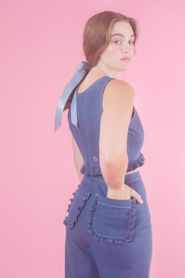 Samantha Pleet Duet Jeans in Ultramarine