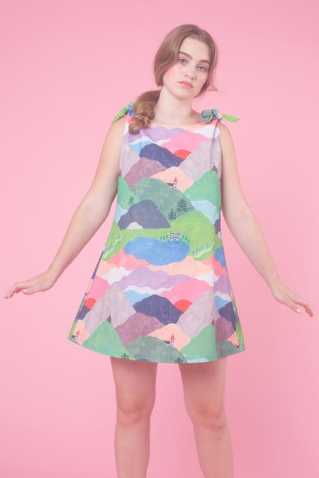 Samantha Pleet Vista Dress in Hills Are Alive