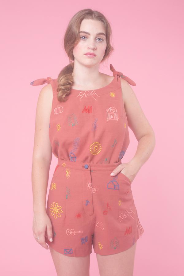 Samantha Pleet Minuet Shorts in Do Re Mi
