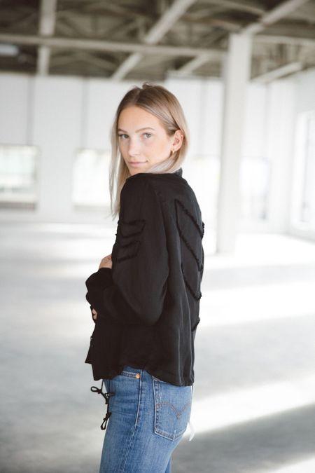 Rails Long Sleeve Shirt Jacket With Arrow Detail