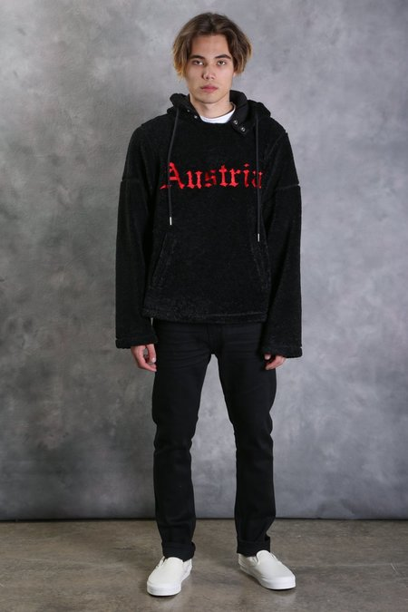 Helmut Lang Embroidered Sherpa Hoodie