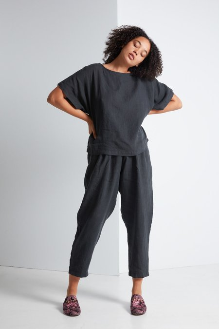 Black Crane Carpenter Pant in Green Black