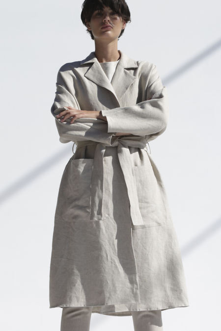 Shaina Mote Swing Trench in Flax