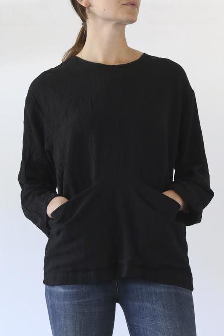 Uzi NYC Pocket Blouse - Black