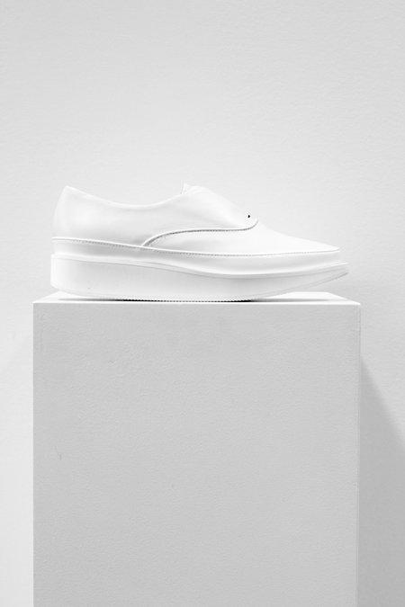 Wite Oxford Slipon Shoe