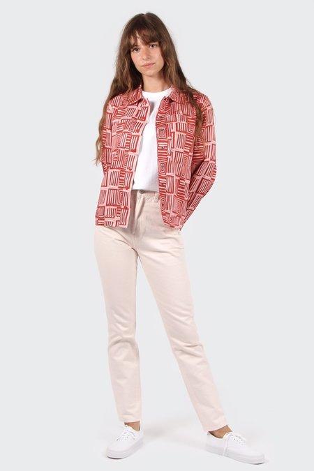 VERNER X Lisa Waup Jacket Shirt - red/pink