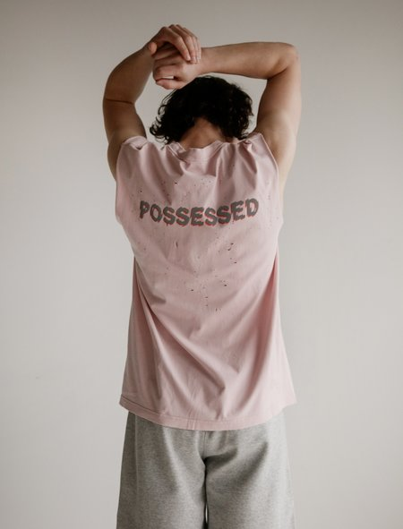 Satisfy Cult Moth Eaten Muscle Tee - Barely Pink