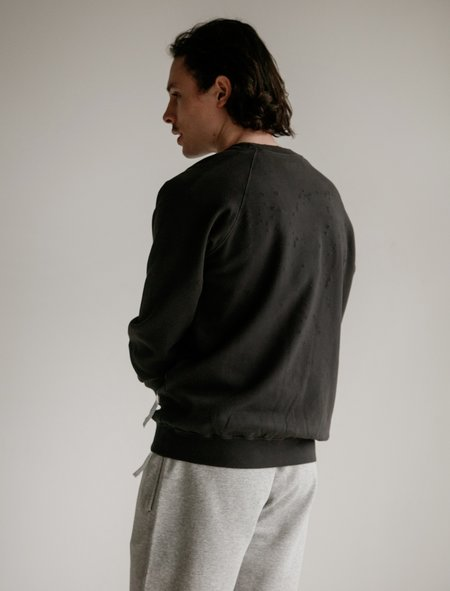 Satisfy Cult Moth Eaten Sweatshirt - Wash Black