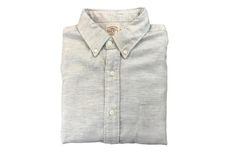 Faherty Oxford Ventura Shirt - Light Grey