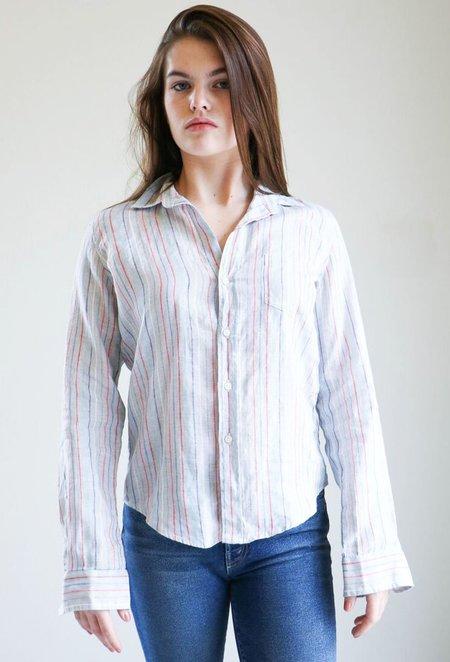 Frank & Eileen Barry Shirt in Grey Multi Stripe