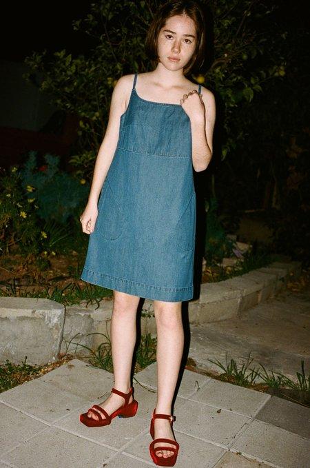 Carleen Charlotte Mini Dress in Blue