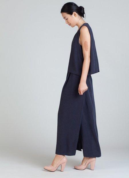 Kaarem Poppy Black Jellyfish Shell Back Long Dress