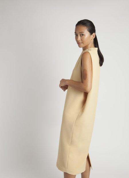 KAAREM Dill High Collar Dress - Yellow