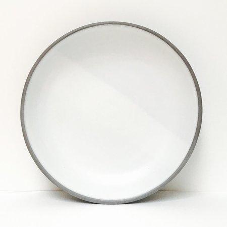 Wolf Ceramics Ash Dinnerware Simple White Plate