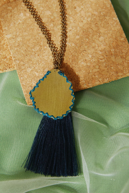 Geography 541 Cerulean Waves Pendant