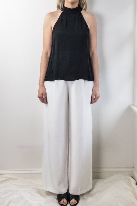 Heather silk collared tank