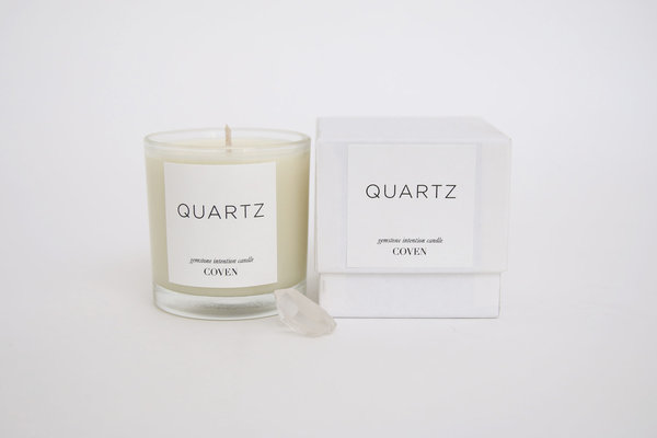 Coven Candles Quartz Gemstone Intention Candle
