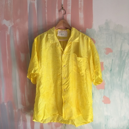 Audrey Louise Reynolds Turmeric Big Silk Blouse