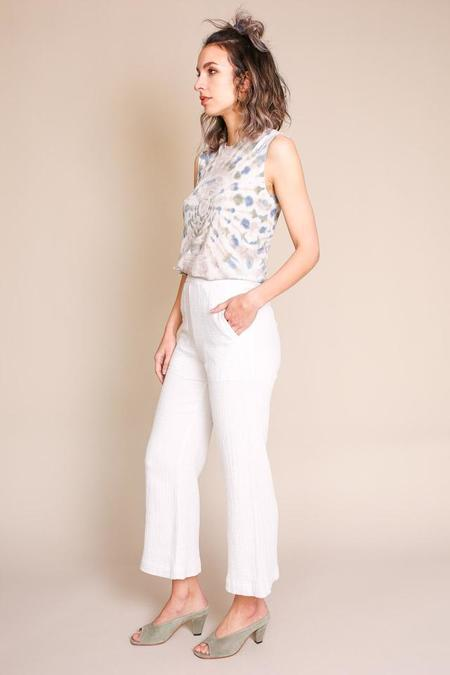 Raquel Allegra Wide Leg Pant - Dirty White