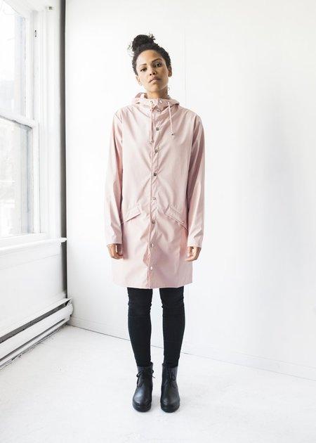 Unisex Rains Long Jacket in Rose
