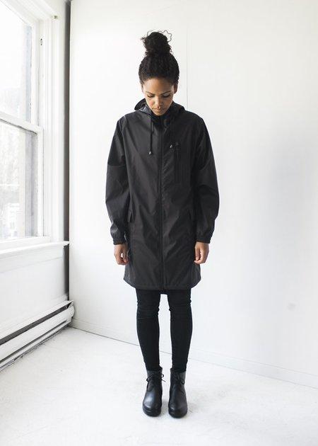 Rains Parka Coat in Black