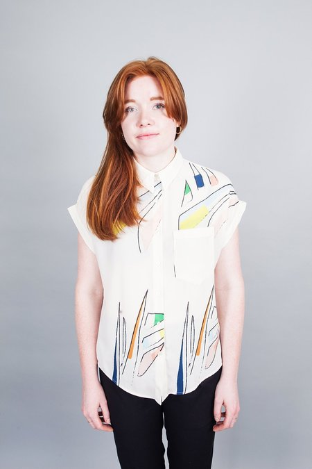 Eve Gravel Fire Lake Blouse - Meadow