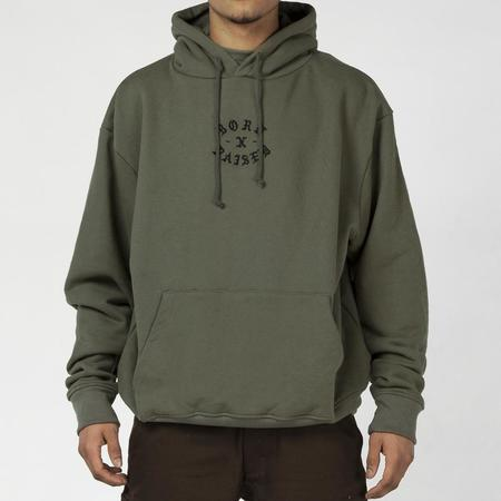 BORN X RAISED MINI ROCK PULLOVER HOODIE - ARMY