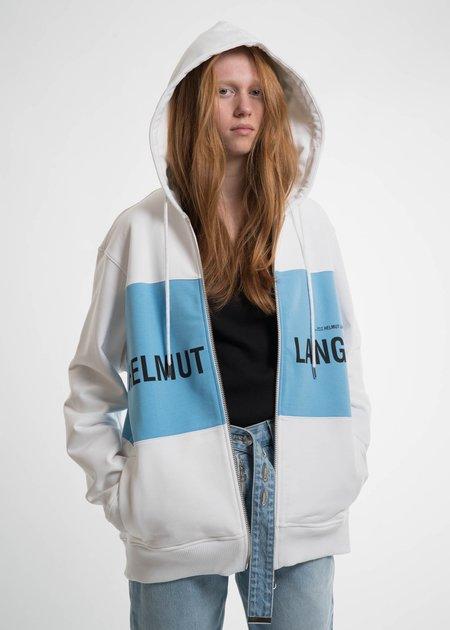 Helmut Lang Sky Blue Panel Campaign Zip Hoodie