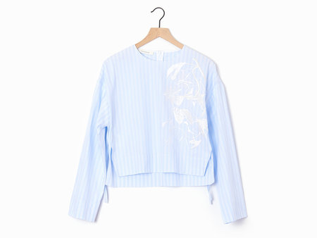 Cedric Charlier Embroidered Blouse