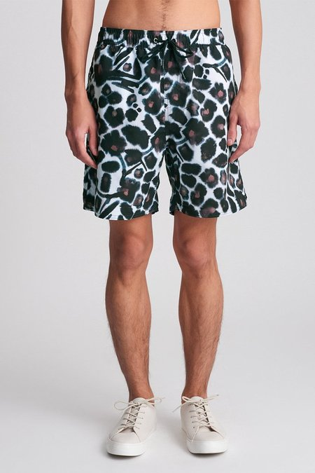 Saturdays Surf NYC Timothy Water Floral Short - Dark Mauve