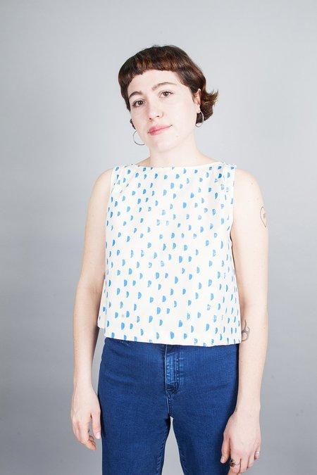 Ursa Minor Meg Top - Blue Moon Cotton