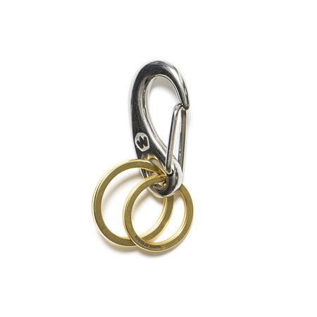 MAPLE Double Ring Snap - Silver/Brass