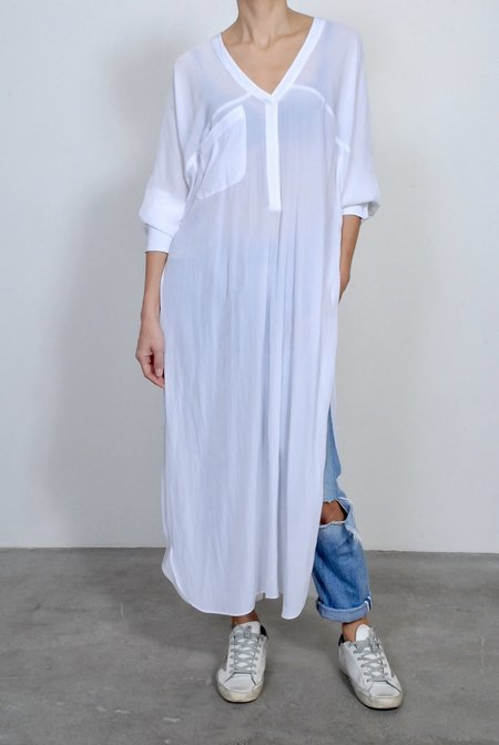 Smythe Side Slit Long Tunic - White