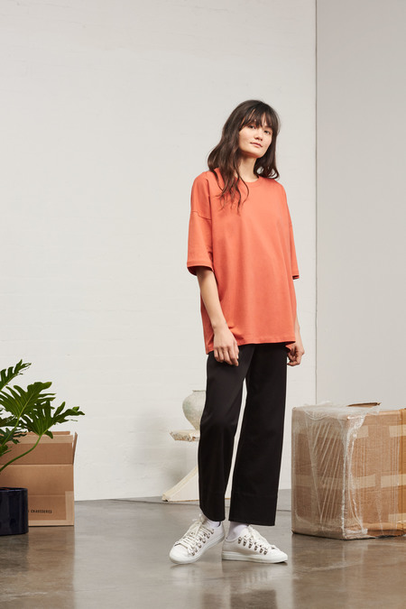 Kowtow Building Block Tall Tee in Peach