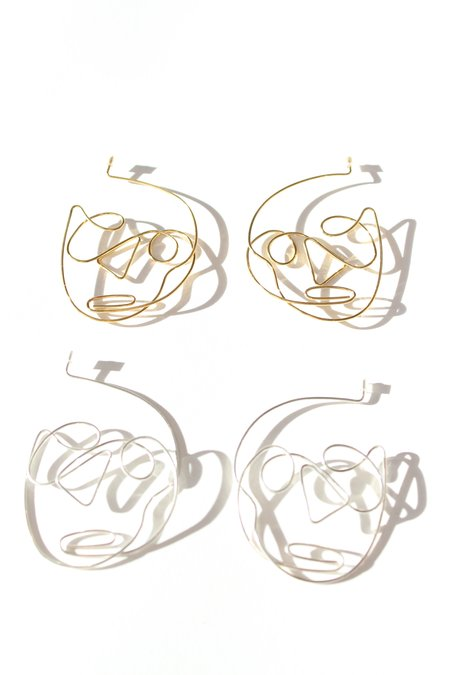 Ellipsee & Masha Reva Face Earrings 3