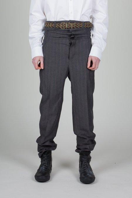 Unisex Y/project Adjustable Waist Grey Pinstripe Trousers