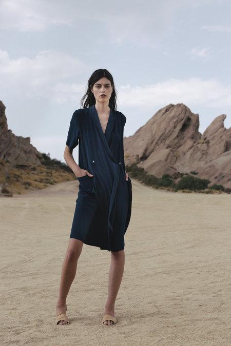 Carleen Marfa Wrap Dress - Navy