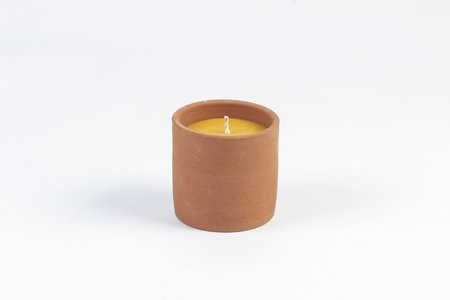 Fredericks and Mae Terracotta and Beeswax Candle