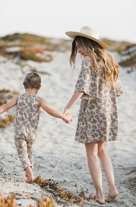 Kids Rylee & Cru BUTTON JUMPSUIT - PALM LEAF
