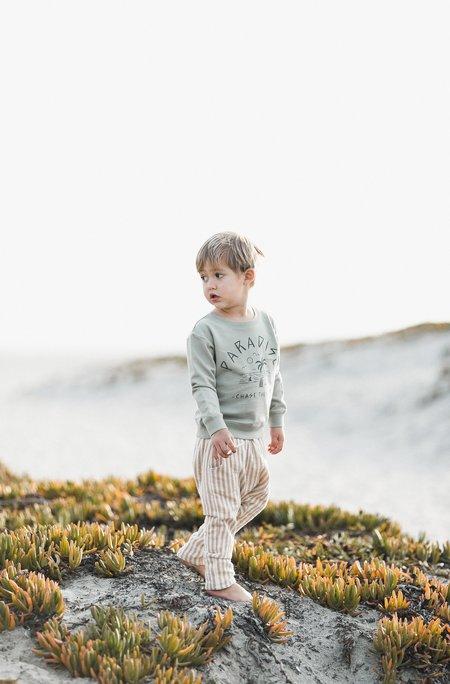 Kids Rylee & Cru HAWTHORNE PANTS - COCOA STRIPE