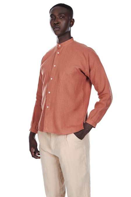 Blluemade Monk Shirt in Terracotta