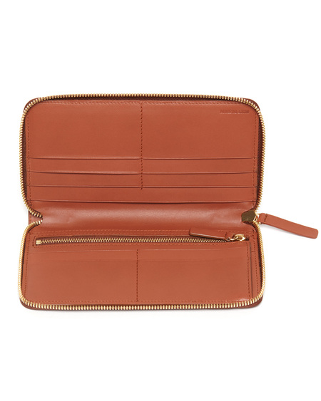 The Stowe Long Wallet in Cognac