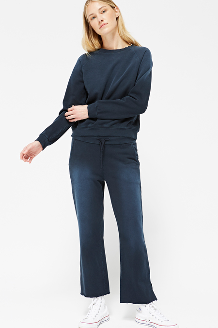 Lacausa Surf Sweatshirt in Distressed Velvet