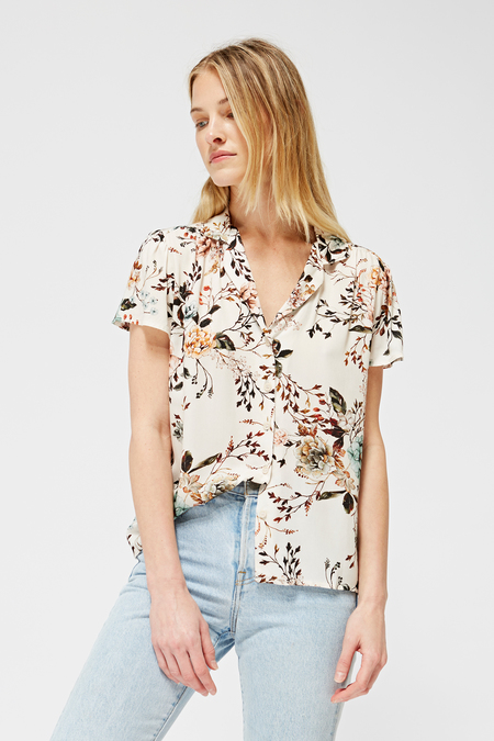 Lacausa Aster Blouse in Cream Dusk